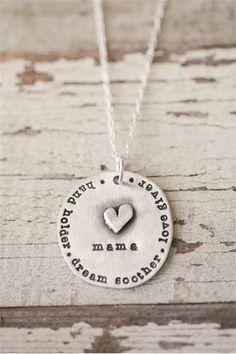 mama necklace | Lisa Leonard Designs #mothersday #jewelry #handstamped