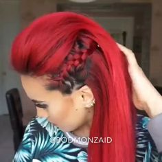 Braided faux hawk @Bodmonzaid #hudabeauty