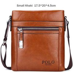 VICUNA POLO High Quality Theftproof Waxy Leather Brand Man Bag With Metal  Hasp Small Men s Crossbody 684472f5d6057