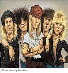 guns and roses caricaturas - Buscar con Google