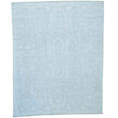 1800getarug White Wash Transitional Peshawar Hand-knotted Rug