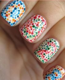Maybe its the nurse in me.but how cute are these colorblind test nails? Maybe its the nurse in me.but how cute are these colorblind test nails? Maybe its the nurse in me.but how cute are these colorblind test nails? Love Nails, How To Do Nails, Pretty Nails, Grow Nails, Funky Nails, Jolie Nail Art, Art Beauté, Chalkboard Nails, Dot Nail Art