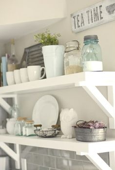 open shelving kitchen | open shelving with chunky brackets is perfect for favorite kitchen ...