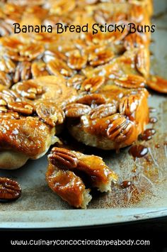 Banana Bread Sticky Buns  From Culinary Concoctions by Peabody