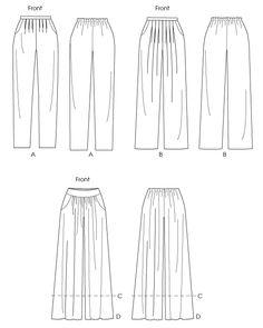 Patron de pantalon - pantacourt femme & homme - Burda 7230 ...