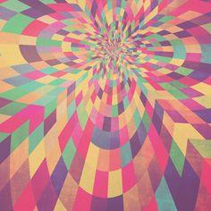 Geometric Retro Grunge Prints - 2011 by Simon C Page, via Behance