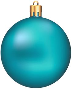 Transparent Blue Christmas Ball PNG Ornament Clipart