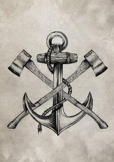 Resultado de imagem para lumberjack tattoo