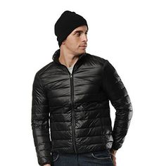 Hifeos Packable Down Jacket For Men Outwear Lightweight Men's Puffer Jacket (Small, Black). For product & price info go to:  https://all4hiking.com/products/hifeos-packable-down-jacket-for-men-outwear-lightweight-mens-puffer-jacket-small-black/