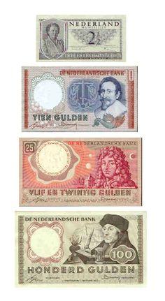 Guldens. Deze oude vertrouwde briefjes vind ik veel mooier dan de briefjes die er allemaal na kwamen.