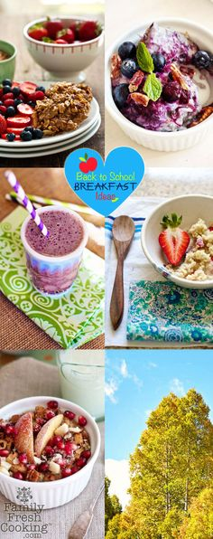 Back to School Breakfast Ideas | FamilyFreshCooking.com