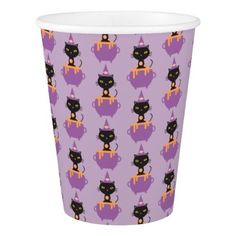 Halloween Cat Meow Paper Cup - Halloween happyhalloween festival party holiday