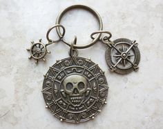 Cursed Pirate Doubloon Pirates of the Caribbean Keychain by AccessoriesG, $4.80