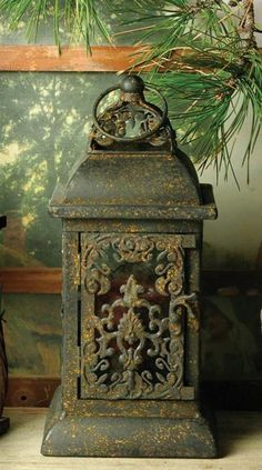 Rustic Lanterns antiques for year round Deco ♥