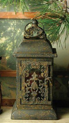 Rustic Lanterns antiques for year round Deco ♥ Old Lanterns, Antique Lanterns, Rustic Lanterns, Decorative Lanterns, Hanging Lanterns, La Danse Macabre, Lantern Lamp, Oil Lamps, Fairy Lights