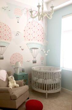 New baby wallpaper wallpapers air balloon 54 ideas Baby Wallpaper, Baby Girl Nursery Wallpaper, Room Wallpaper, Wallpaper Wallpapers, Wallpaper Ideas, Baby Bedroom, Baby Room Decor, Girls Bedroom, Nursery Decor