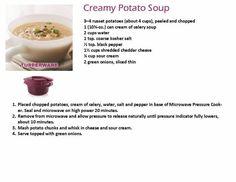 CREAMY POTATO SOUP (Swap celery soup for mushroom soup)