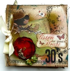 Image detail for -... Scrapbook: How did I do that ... Mini Album from Prima Canvas by Hilde