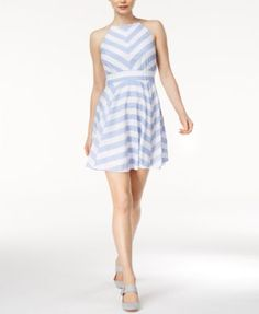 Maison Jules Kimberly Striped Fit & Flare Dress, Only at Macy's   macys.com