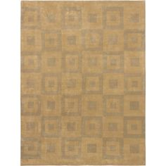 eCarpetGallery Handmade Modern Elegance and Yellow Wool Rug