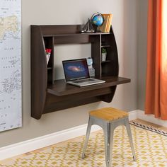 This modern computer desk is compact in size and is ideal for smaller spaces such as a bedroom, dorm, apartment or home office. Small DIY Computer Desk   Corner Computer Desk   DIY Modern Computer Desk   Custom Computer Desk  #ModernComputerDesk #ModernComputerDeskSmallHome #ModernComputerDeskHomes