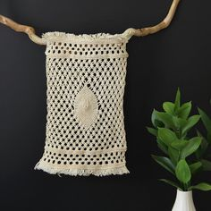 Eco wall decor. Handcrafted macrame art. One of a by RetoDecor, $120.00