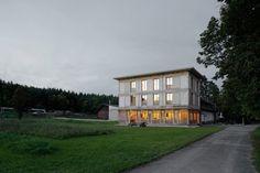 Bernath & Widmer - Ferienheim house, a restaurant and housing units, Büttenhardt, 2010. Photos © Roland Bernath, Bruno Augsburger.