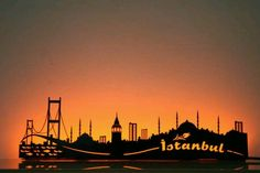Silhouette of İstanbul.
