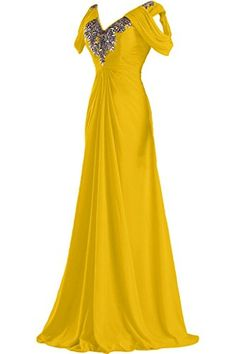 Ivydressing Demure Long V-neck Evening Gowns Ruched Mothe...