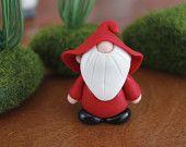 Polymer Clay Gnome - Custom Color Gnome - Miniature Gnome - Mini Clay Gnome - Fairy Garden Accessory - Terrarium Accessory - Gnome Sculpture