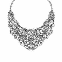 SALE $29.5 - Wholesale 6 Pieces/lot New Fashion Unique Personality Hollow Flower Shape Metal Bib Necklace Fashion Women Jewelry, NK101037