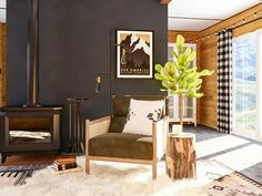 Love the Cabincore aesthetic? Try on the look in your home! Here are 5 ways to give your home a cabin-inspired look. Modern Mountain Home, A Frame Cabin, Tufted Ottoman, Ship Lap Walls, 5 Ways, House Design, Interior Design, Inspired, Furniture