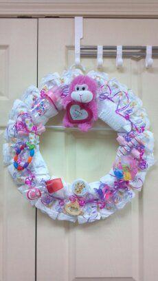 baby shower wreath i made.