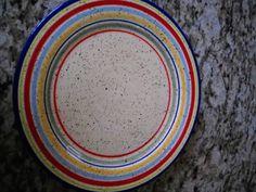 "4 Pfatzgraff Sedona Design 11 7/8"" Large Dinner Plates Multi Color Hand Painted | eBay"
