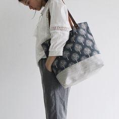 Original Handmade Canvas and Leather Casual Tote Shoulder Bag Carry all Bag 14041 - LISABAG - 4