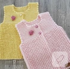Let& see what baby vest patterns 2018 patterns are. Combed yarn wide knit b . Baby Knitting Patterns, Knitting Stitches, Free Knitting, Cardigan Bebe, Baby Cardigan, Knit Vest, Crochet For Kids, Knit Crochet, Diy Crafts Knitting