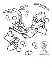 hand hygiene coloring pages | Free printable coloring page to teach kids about hygiene ...