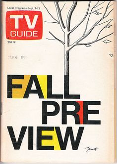 1974 TV Guide Fall Preview issue - We looked forward to this issue to see a preview of all the new shows.