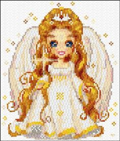 Counted Cross stitch White Fairy