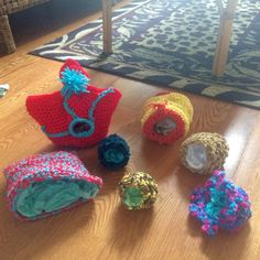 Mouse/rat /hamster houses crocheted & donated to the pound