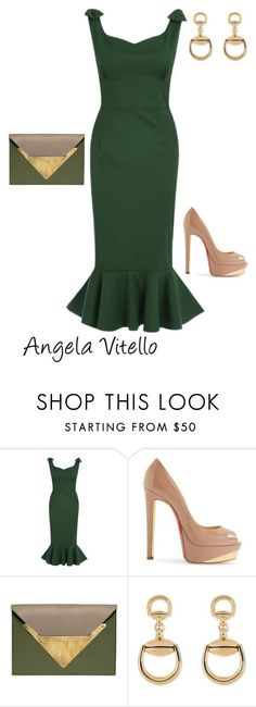 """""""Untitled #714"""" by angela-vitello on Polyvore featuring Christian Louboutin, Dareen Hakim and Gucci"""