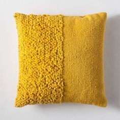 Solid Textured Throw Pillow – Project – image 1 of 2 Solides strukturiertes Dekokissen – Project 62 ™ – Bild 1 von 2 Yellow Throw Pillows, Diy Pillows, Accent Pillows, Decorative Pillows, Cushions, Pillow Ideas, Couch Pillows, Cricut, Punch Needle Patterns