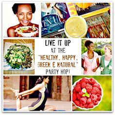 Live It Up at the Healthy, Happy, Green & Natural Party Blog Hop #3 @UrbanNaturale: Healthy.Green.Vegan.