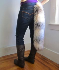 DIY faux fur tail. cool. could make your own Cheshire cat costume