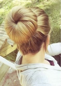 sock bun - comes with a video tutorial that shows how to do it with a sock