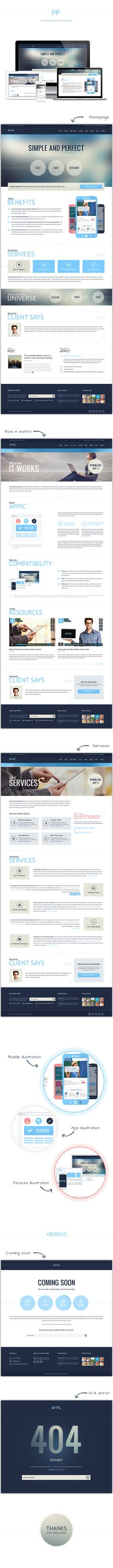 Appic - business and technology website by Olia Gozha, via Behance #webdesign