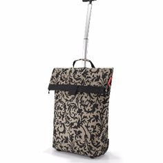 Reisenthel Barock Taupe Shopping Trolley M: The roomy, rolling bag for every day and every use. Comfortable transport on 2 near-effortless rollers.2-stage telescopic handle tucks away behind a zipper. 1 zipped pocket on the back.