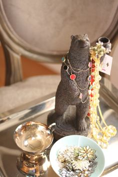 #Savers Thrift Finds...Put that Grizzly to work! #Jewelry Holder  @Teresa Pace / Value Village