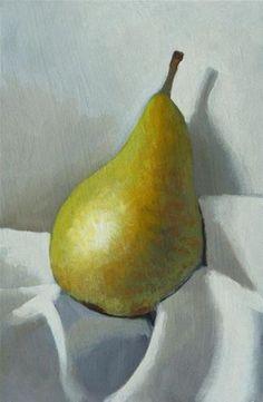 """Pear"" - Original Fine Art for Sale - © Peter Orrock Watercolor Plants, Watercolor Paintings, Pyrus, Still Life Oil Painting, Fruit Painting, Still Life Art, Mexican Art, Pastel Art, Art Club"