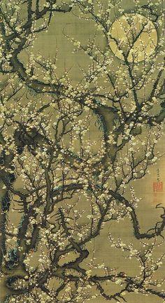 Ito Jakuchu (Japanese: 1716-1800) - Baika kougetuzu